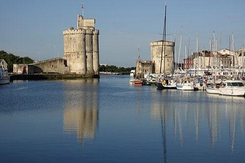 De oude haven van La Rochelle aan de Atlantische kust van Frankrijk.