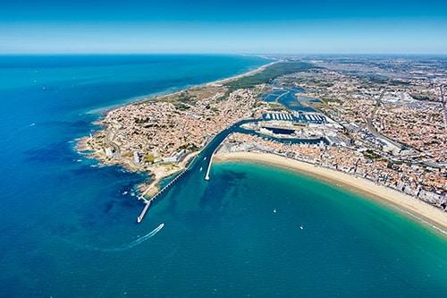 Luchtfoto van Les Sables d'Olonne.