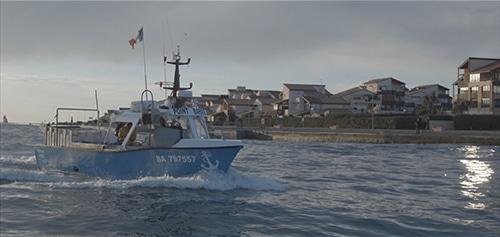 Een vissersboot in Capbreton aan de Atlantische kust van Frankrijk.