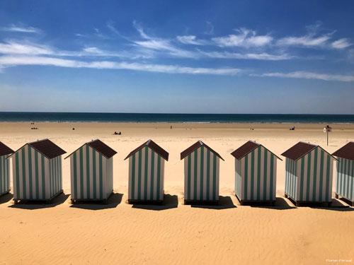Het met 'Pavillon Blue' onderscheiden strand van Saint-Jean-de-Monts in Frankrijk.