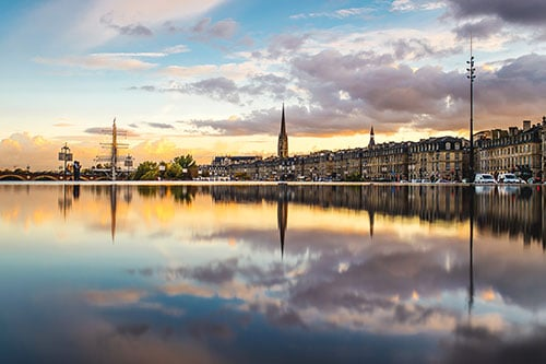 De waterspiegel miroir d'eau in Bordeaux.