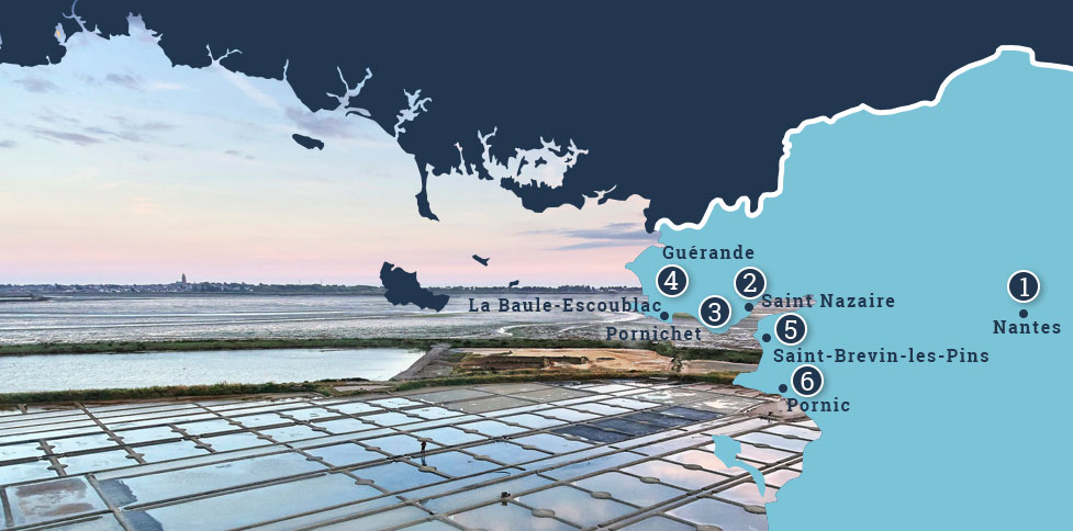 Karte Loiretal Atlantik