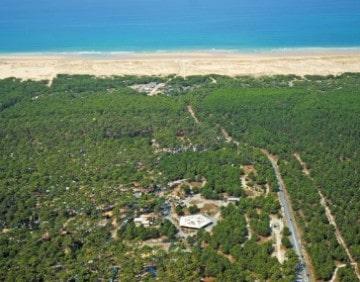 Luchtfoto van Camping La Grigne in Gironde.